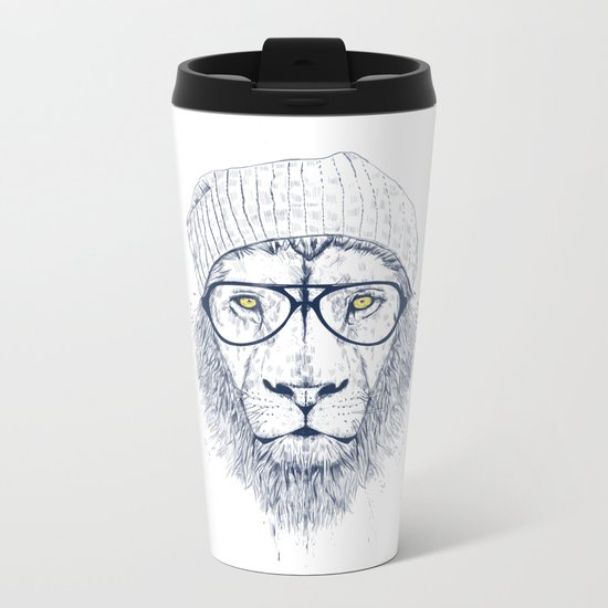 Cool lion Metal Travel Mug