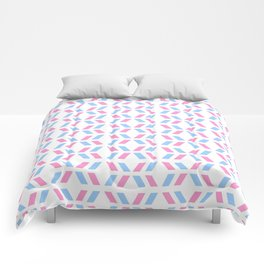 Oblique polka dot blue and pink Comforters