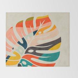 shape leave modern mid century Throw Blanket