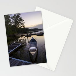 Canoe at Sunset Stationery Cards