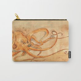 Octopus Drinking Tea Carry-All Pouch