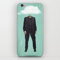 risa rodil iPhone & iPod Skins featuring Head in the Cloud by Vin Zzep