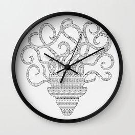 grey mind Wall Clock