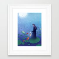 fireflies Framed Art Prints featuring Fireflies by germaine caillou