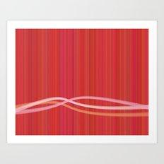 Strawberry Waves Art Print