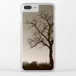 Melancholy in December Clear iPhone Case