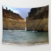 giants Wall Tapestries featuring Two Giants on a Collision Course! by Chris' Landscape Images & Designs
