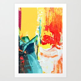 Color Collage Art Print