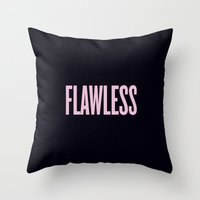 flawless Throw Pillows featuring Flawless by Marianna