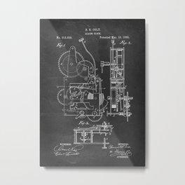 Alarm Clock - Patent #313,656 - S. S. Colt - 1885 Metal Print