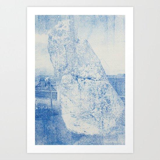Gum arabic print of rock Art Print