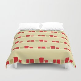 Retro Holiday Gifts Duvet Cover
