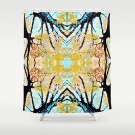 Tree Mosiac Shower Curtain