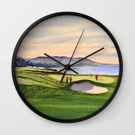 Pebble Beach Golf Course 9th Green Wall Clock