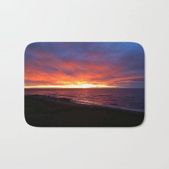 Beach Sunset on the Sea Bath Mat