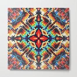 Ornate Geometric Colors Metal Print