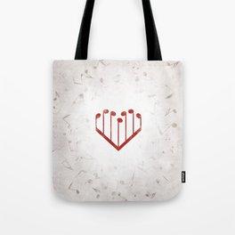 Music Heart gray Tote Bag