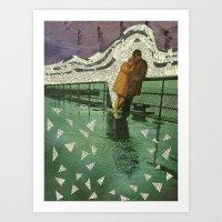 maryland Art Prints featuring Maryland by Nico Padayhag