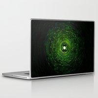 green lantern Laptop & iPad Skins featuring Green Lantern by Electra
