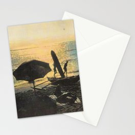 Waikiki Beach Picnic at Sunset Hawaii Stationery Cards