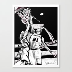Tim Duncan vs. Father Time Canvas Print