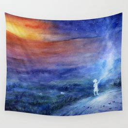 little spirit of the steppe Wall Tapestry