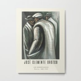 Poster-José Clemente Orozco-Los Desempleados. Metal Print