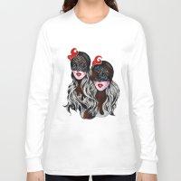 gemini Long Sleeve T-shirts featuring Gemini by Felicia Cirstea