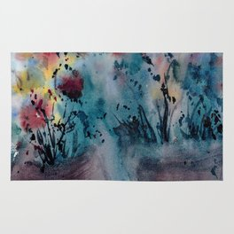 Flower Pots, An image of one my watercolor paintings Rug