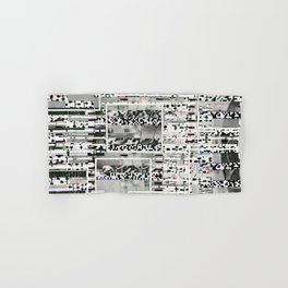 My Friend, Surveillance (P/D3 Glitch Collage Studies) Hand & Bath Towel