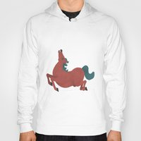 horse Hoodies featuring horse by James White