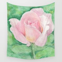 tiffany Wall Tapestries featuring Tiffany Rose by Annie Mason