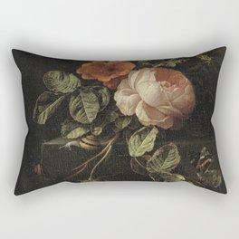 Botanical Rose And Snail Rectangular Pillow