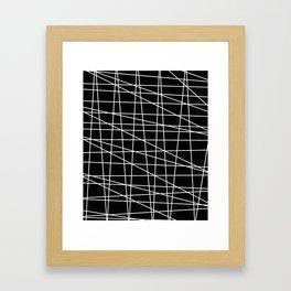 Gossamer. Black and white.1 Framed Art Print