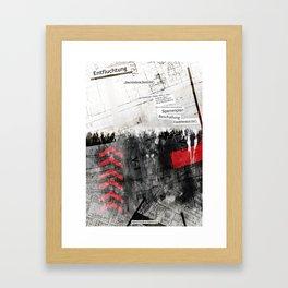 """""""Entfluchtung"""" Framed Art Print"""