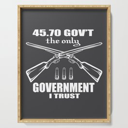 Gun Government USA Pun Funny gift Serving Tray