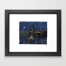 Over the Lake Framed Art Print