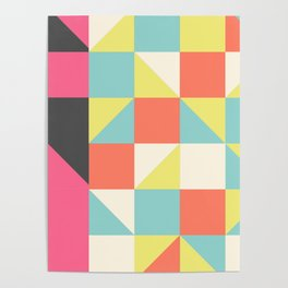 Abstract Aztec Pattern Poster