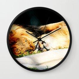 Cat Nap (Jungle Love) Wall Clock