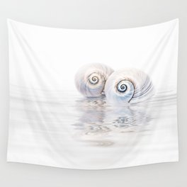 Snail Shells On Water Wall Tapestry