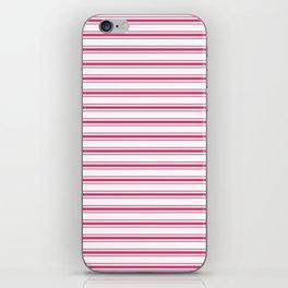 Bright Pink Peacock Mattress Ticking Wide Striped Pattern - Fall Fashion 2018 iPhone Skin