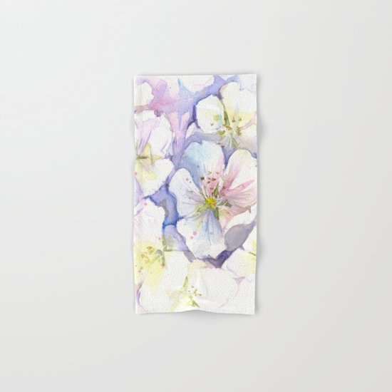 Cherry Blossoms Flowers Spring Floral Hand & Bath Towel