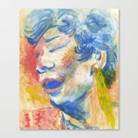 fitzgerald Canvas Prints featuring Ella Fitzgerald by thirdfloorclub