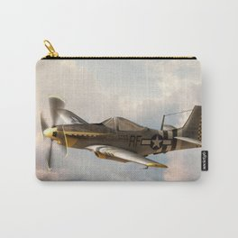 P-51 Mustang World War II Fighter Plane Profile Carry-All Pouch