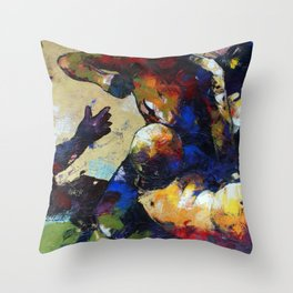 Two side of the coin Throw Pillow