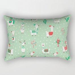 Christmas llama Rectangular Pillow