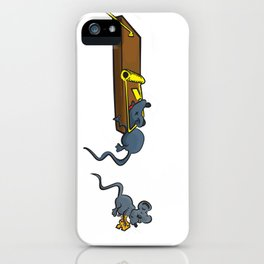 The early bird gets the worm, but its the second mouse who gets the cheese. iPhone Case