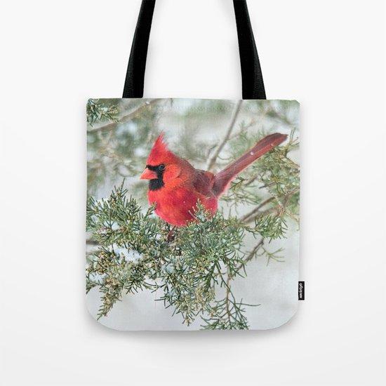 Cocky Cardinal Tote Bag