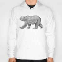 polar bear Hoodies featuring Polar Bear by Tim Jeffs Art