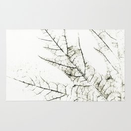 Maple Leaf Silhouette On  White Background Rug